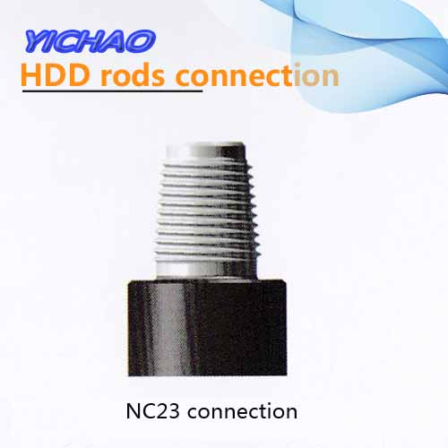 NC23 connection for drilling rods