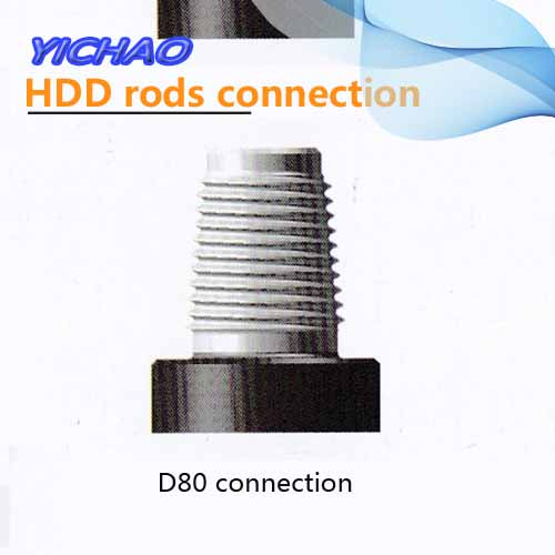 D80 connection for drilling rods