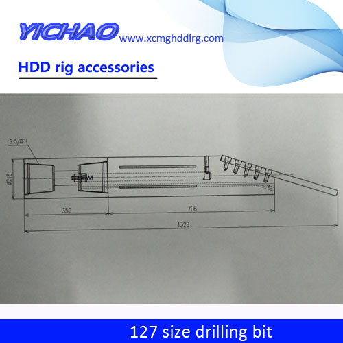 HDD rig combined drill bits