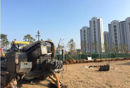 XCMG horizontale Richtbohranlage ist schnell leishenshan Hospital Erdgas-Pipeline-Projekt zu bekämpfen