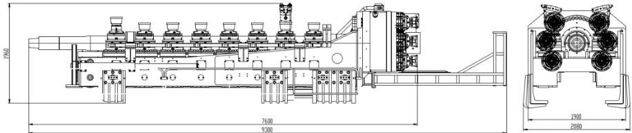 Размер буровой установки X-13600