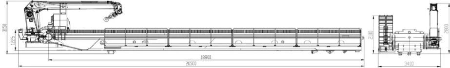 Размер транспортировки буровой установки X-13600