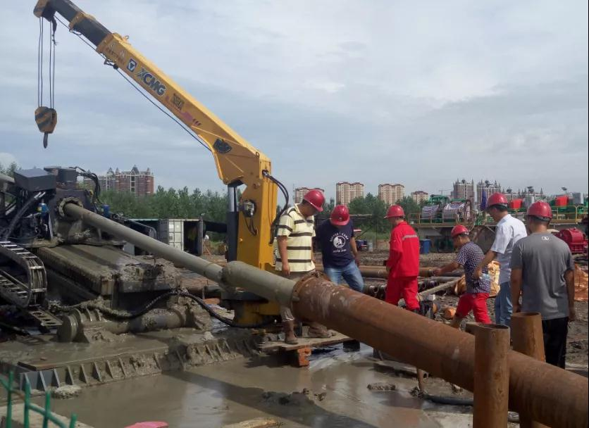 Large diameter long distance trenchless project mud formula